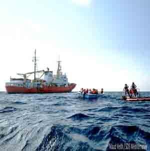 Penalizan labor humanitaria en el Mar Mediterráneo